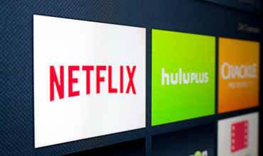 Netflix app on screen