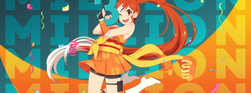 Crunchyroll Crosses 3 Million Subs!