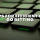 Tips for Efficient CS: GO Betting